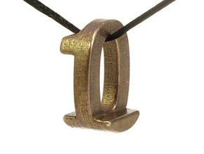 Zero One Pendant in Polished Bronze Steel