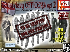 1-220 Generic Royal Navy Officers Set 2 in Transparent Acrylic