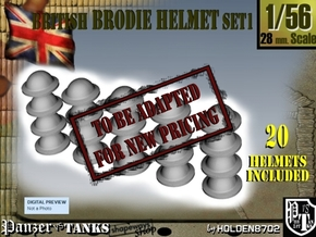 1-56 Brodie Helmet Set1 in Transparent Acrylic