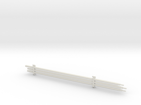 1/16 Su-152 Cleaning Rods and Clamps in White Natural Versatile Plastic