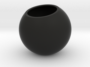 Sfera - planter for succulents and cactuses in Black Natural Versatile Plastic: Small