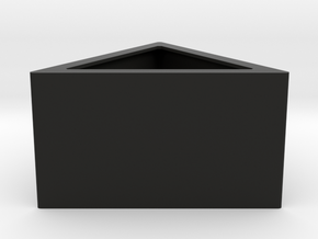 Prisma - planter for succulents and cactuses in Black Natural Versatile Plastic: Small