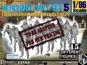 1/96 Merchant Navy Set 5 in Transparent Acrylic