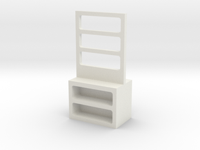 Furniture, Shelf, Storage Rack (Space: 1999), 1/30 in White Natural Versatile Plastic