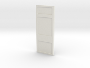 Wall, Basic, Tall (Space: 1999), 1/30 in White Natural Versatile Plastic