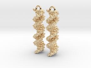 DNA Molecule Earring Set in 14k Gold Plated Brass