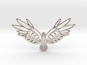 Golden Bird in Rhodium Plated Brass