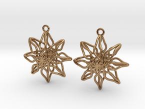Change Flower Earrings in Polished Brass