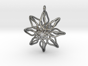 Change Flower Pendant in Polished Silver