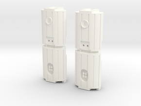 Docking Bay: Dual Barrel Things, 1:43 in White Processed Versatile Plastic