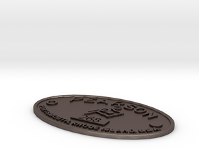 Pearson Badge 268 in Polished Bronzed Silver Steel