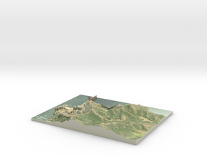 "Marin Headlands Map: 8.5""x11"" in Glossy Full Color Sandstone"