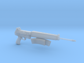 AR-18 with removeable double clip 1:4 scale in Smooth Fine Detail Plastic