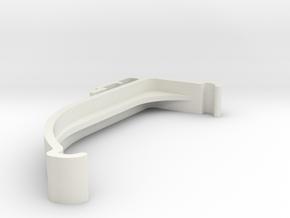 Blind Valance Clip 00178 in White Natural Versatile Plastic