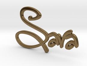 Names: Sara (customizable) in Natural Bronze