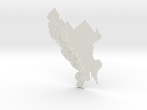 Grand Teton National Park, Wyoming, 1:100000 in White Natural Versatile Plastic