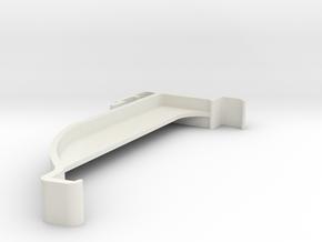 Blind Valance Clip 00177 in White Natural Versatile Plastic