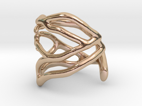Coral midi ring (C) in 14k Rose Gold