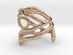 Coral midi ring (C) in 14k Rose Gold
