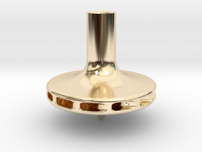 Straw Turbo Spinning Top in 14k Gold Plated Brass