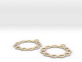 Celtic Weave Earrings - WE026 in 14k Gold Plated Brass