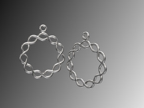 Celtic Weave Earrings - WE026 in Polished Silver