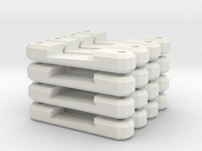 16 Single Super Elevated Track Support in White Natural Versatile Plastic