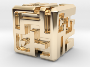 Sculpture: MAZE in 14K Yellow Gold