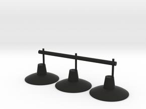Lampadaires X3 Ech 1/43.5 O in Black Natural Versatile Plastic