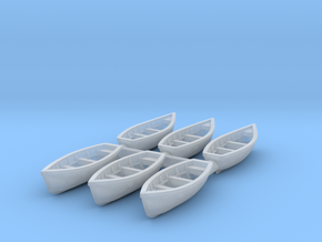 Wooden boat 01. Z Scale (1:220) in Frosted Ultra Detail
