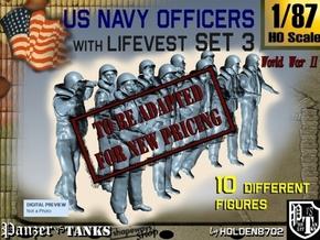 1-87 USN Officers KAPOK Set3 in Transparent Acrylic