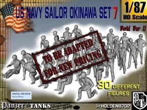 1/87 US Navy Okinawa Set 7 in Transparent Acrylic