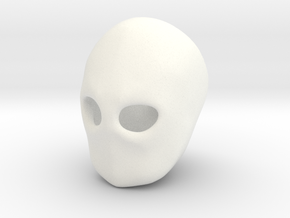 """""""Blank Face"""" BJD head sculpting aid SD size FRONT in White Processed Versatile Plastic"""