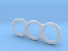 Simple Fidget Spinner in Smooth Fine Detail Plastic
