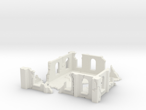 Modular Building in White Natural Versatile Plastic