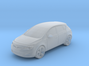 Vauxhall/Opel Astra in Smooth Fine Detail Plastic: 1:148