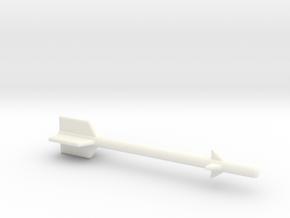 1/87 Scale AIM-9E Sidwinder in White Processed Versatile Plastic