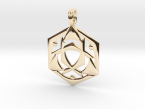 SYNCHRO-FREQUENCY in 14K Yellow Gold