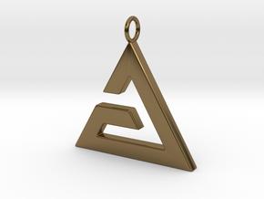 Aard Pendant in Polished Bronze