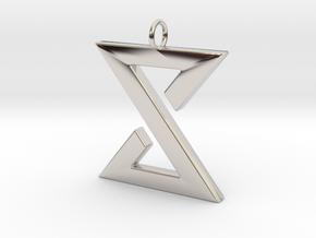 Yrden Pendant in Rhodium Plated Brass