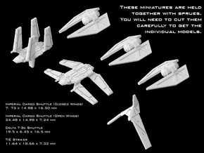 (Armada) Rogue One Empire Set in Smooth Fine Detail Plastic