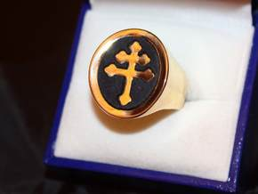 TEAM RING SIZE 9 3/4  in Polished Brass