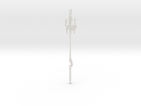 """BotW"" Guardian Spear++ in White Natural Versatile Plastic: 1:12"