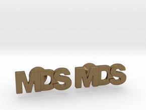 Monogram Cufflinks MDS in Natural Bronze