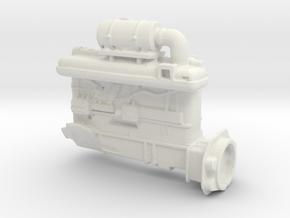 Diesel engine in White Natural Versatile Plastic