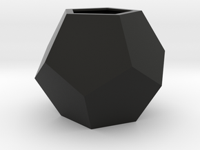 Dodecaedru - planter for succulents and cactuses in Black Natural Versatile Plastic: Small