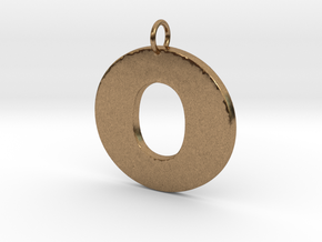 O Pendant in Natural Brass