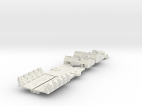 6mm DeathBot War-Barge (1pcs) in White Strong & Flexible