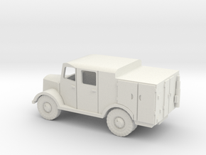1/144 Mercedes Radio truck in White Strong & Flexible