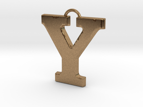 Y Pendant in Natural Brass